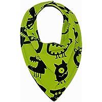 Bandana Monstruos Verde, preciosa bandana que recoge las incómodas babas que empapan la ropa de nuestros bebés.