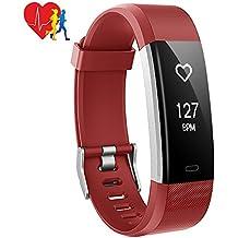 Pulsera Actividad Inteligente Mpow, Monitor de Ritmo Cardíaco Calorías Sueño, Fitness Tracker con 14 Modos de Ejercicio, GPS Seguimiento de Rutas, Alarmas, Notificación, Control de Música y Cámara