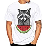 Camiseta Para Hombre, ❤️Xinantime Hombres Que Imprimen La Camisa de Las Tees Camiseta Manga Corta Chico Blusa (M, ❤️Rojo)