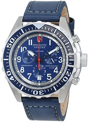 SWISS MILITARY-HANOWA Herren Analog Quarz Uhr mit Leder Armband 06-4304.04.003