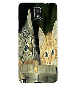 ColourCraft Cute Kittens Design Back Case Cover for SAMSUNG GALAXY NOTE 3