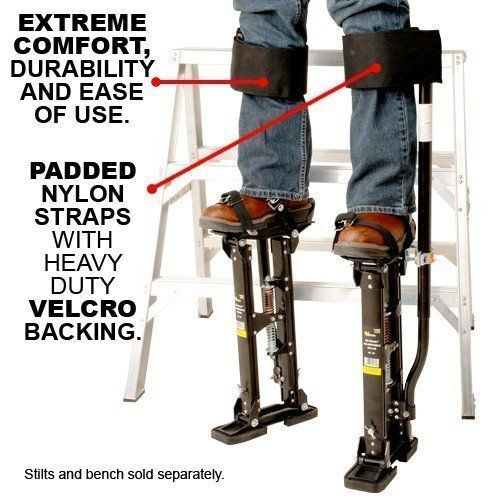New (Straps Only!) Design Comfort Strap Drywall Stilts Leg Band Kit (COM-STRAP),My Comfort Universal Stilt Leg Strap Test