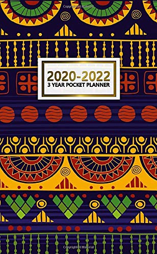 3 Year Pocket Planner 2020-2022: Nifty 3 Year Monthly Organizer & Calendar with Phone Book, Password Log & Notebook - Three Year Agenda & Diary with Inspirational Quotes - Pretty Ethnic Boho Design