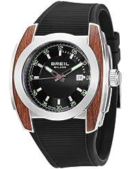 Breil Milano BW0374 - Reloj de caballero de cuarzo, correa de goma color negro