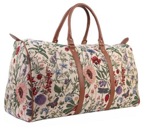 Signare DamenTapisserie Mode Reisetasche Morgen Garten (Morgen Blume)