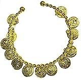 Halloweenia - Oberarm Reif Armreif orientalisches Kostüm Schmuck -Orient Bauchtanz Harem Cleopatra goldglänzend, Gold