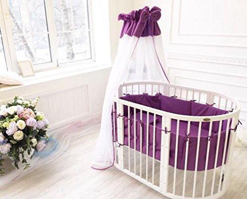 ComfortBaby® SmartGrow Lit pour bébé multifonction extensible 7en 1en bois massif Blanc