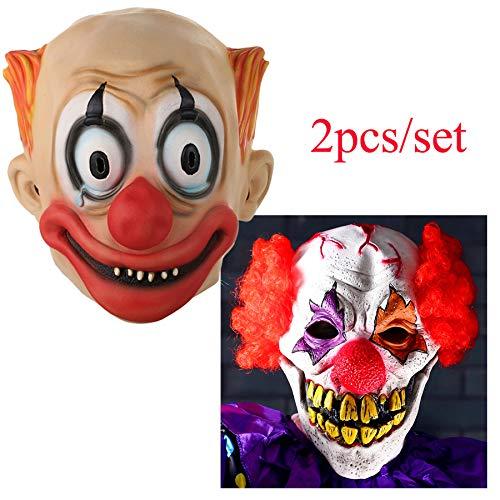 Hyalinität & Dora Halloween Latex Clown Maske mit Haar für Erwachsene, Halloween-Kostüm Party Requisiten Masken mit 1zufällige Maske Geschenk (Adult Kostüm Dora)