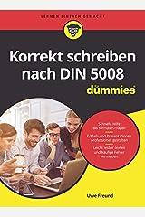 Korrekt schreiben nach DIN 5008 für Dummies Kindle Ausgabe