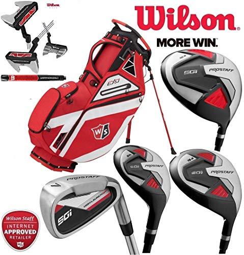 Wilson Prostaff SGI 11 Stück Komplettes Club-Set Golfpaket mit Graphitschafteisen und Graphitschafts-Hölzern Mens Right Hand EXO Carry Bag -