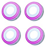 #2: PRECKTUS 6 W SIDE PINK ROUND SURFACE LED PANEL LIGHT PACK OF 04