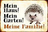 Schatzmix Mein Haus! Mein Garten! Meine Familie! Igel Hedgehog blechschild