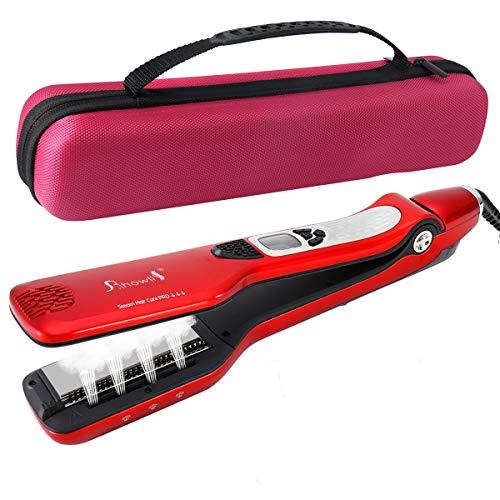 Fer à Lisser Vapeur Professionne 5 Trous de Pulvérisation Lisseur Vapeur Cheveux