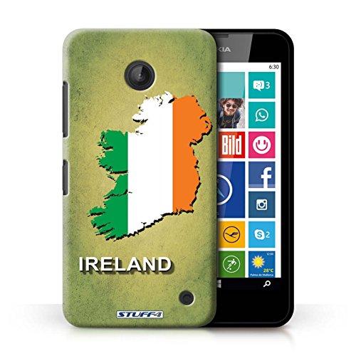 Kobalt® Imprimé Etui / Coque pour Nokia Lumia 635 / Lituanie/Lituanien conception / Série Drapeau Pays Irlande/irlandaise