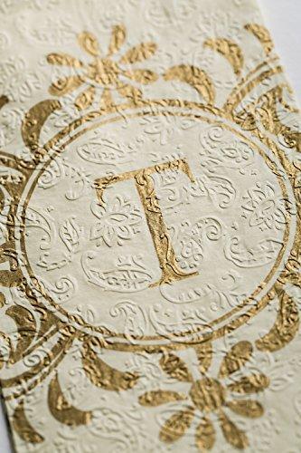 Cypress Home Embossed Monogram T Paper Guest Napkin, 90 count by Cypress (Papier-handtücher Personalisierte)