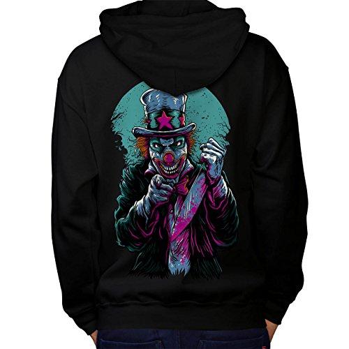 Bilder Clown Kostüm Böse (Clow Böse schaurig Horror Herren M Kapuzenpullover Zurück |)