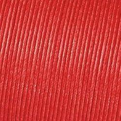 Kumihimo Cordón Algodón Encerado (2mm x 6m, Color Rojo