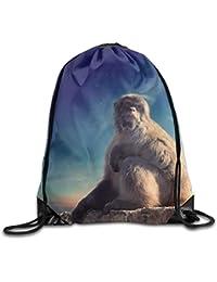 Preisvergleich für MaJack Monkey-Animal-Rucksack, mit Kordelzug, Himmelblau, niedlich, für den Sport, für Reisen, Schulrucksack