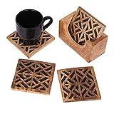 De acción de gracias posavasos, diseño de cuadrado hecho a mano set de 4Absorbente Posavasos Taza de té para vino cerveza taza de cristal cocina accesorios