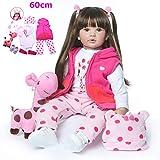 Zaoyun Fashion 60CM Brown or Golden Hair hohe qualität wiedergeborenes Kleinkind Prinzessin...