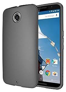 Diztronic Full Matte Flexible TPU Case for Motorola Nexus 6 Matte Charcoal Gray