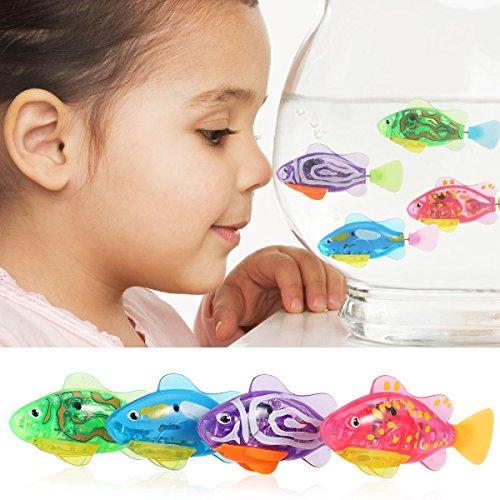TOYMYTOY 4 Stück Kinder Roboter Fische Elektronische Spielzeug - 2