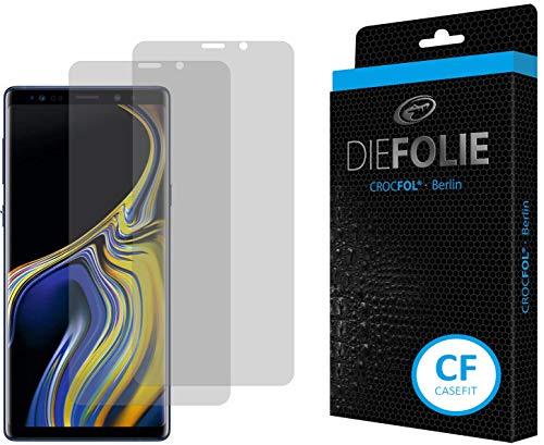 Crocfol Bildschirmschutz für Samsung Galaxy Note 9: 2x DIEFOLIE Schutzfolie, 1x DASFLÜSSIGGLAS flüssiges Glas - Casefit Folie, Nutzung mit Schutzhülle