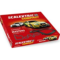 Scalextric-C10259S500 Sprint Masters, Color Rojo (Scale Competition Xtreme C10259S500)