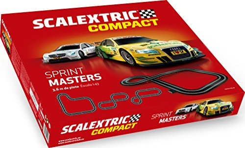 Scalextric - Sprint Masters, Color Rojo (Scale Competition Xtreme C10259S500)