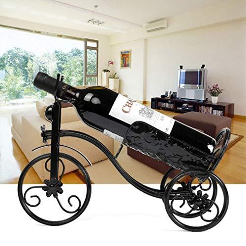 PIV Weinregal Kreative Eisen Weinregal Dekoration Vintage Wein Wandregal Europäischen Vintage Vintage Weinregal,Schwarz, -