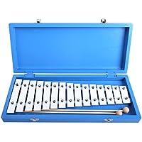 CAHAYA Glockenspiel Instruments de Musique à percussion avec 2 Maillets Pour Enfant et Bébé(15 notes)