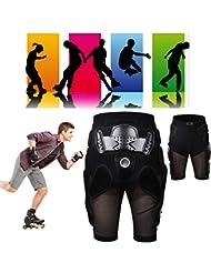 Max & Mix protección Hip EVA Paded corto pantalones de equipo de protección Guardia Pad para bicicleta motocicleta Skateboarding equitación pantalones, mediano