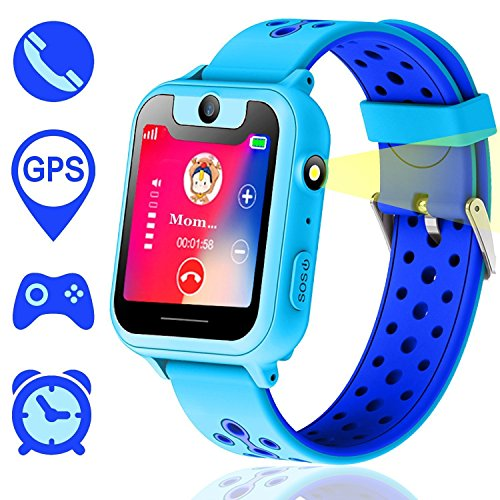 Kids Smart Watch, GPS Tracker Smart Watch Phone per...