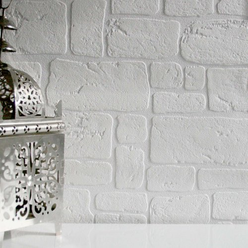 Paintable' Faux Brick wallpaper ...
