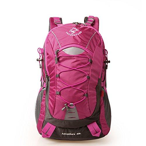 Zaino outdoor escursionismo sacco/Coppia zaino/ borsa sportiva/ escursionismo Pack-Rosso rosa
