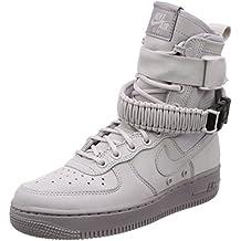 Nike Scarpe Unisex Wmns SF Air Force 1 Il Pelle e Tessuto Grigio 857872,003