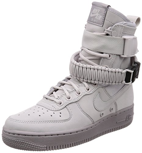 Nike Unisex Shoes Wmns SF Air Force 1 Leather and Gray Fabric 857872-003