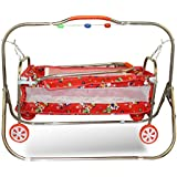 Akshat Beautiful Stylish Cradle For Kids Age Group 0-24 Months Light Weight Cradle Cradle For Baby With Net And Swing Newton Cradle Cradle Swing For Baby Cradle For Baby With Net