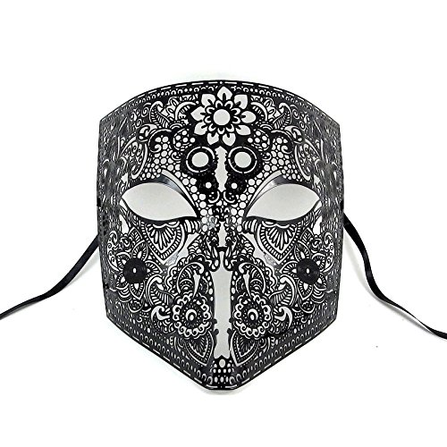Image of Man in the Iron Mask Metal Steampunk Venetian Masquerade Mask