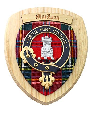 macdonald-sporrans-maclean-fc-plaque-en-bois-bois-clair-plaques-murales-clan-ecossais