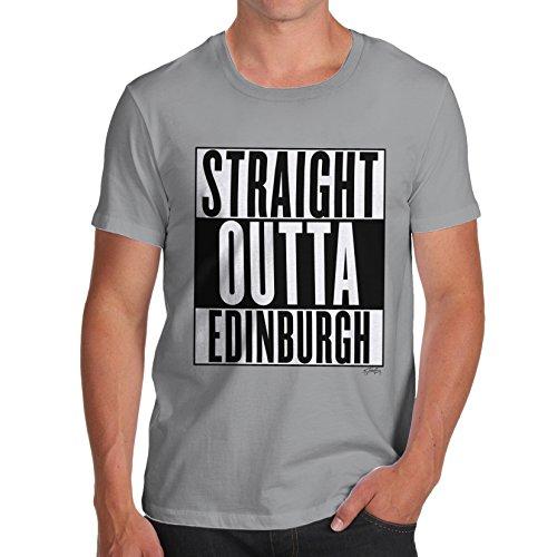 Herren Straight Outta Edinburgh T-Shirt Grau