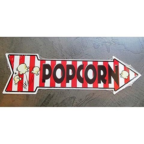 inconnu - plaque popcorn fleche tole deco bar cuisine restaurant