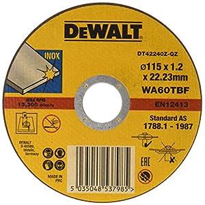 51gTC0CwjIL. SS300  - Dewalt DT42240Z-QZ -  Disco abrasivo para cortar acero inoxidable plano (115x1.2x22.23 mm) - 1 unidad
