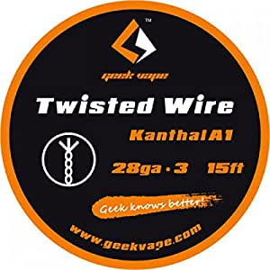 Filo Resistivo GeekVape Twisted Kanthal A1 (28GA * 3) 5m