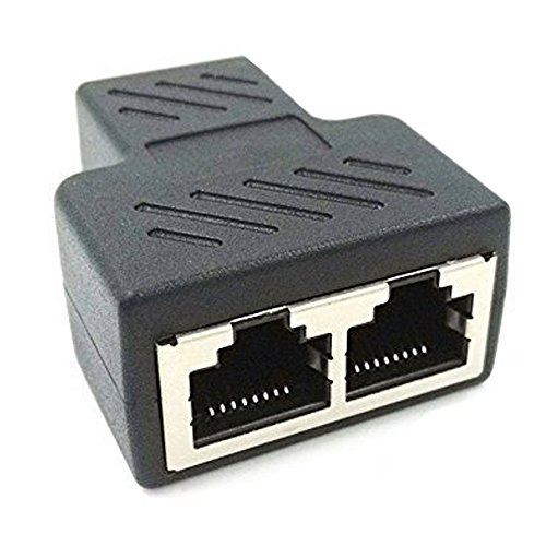 NEXTANY RJ45 Splitter Adapter 1 to 2 Dual Female Port CAT 5/CAT 6 LAN Ethernet Socket Splitter Connector Adapter