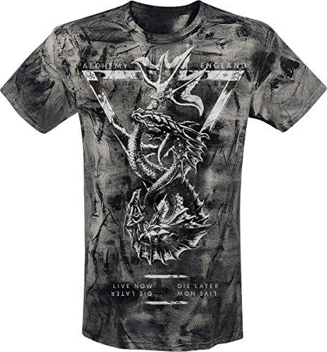 Alchemy England Piscies T-Shirt grigio XXL