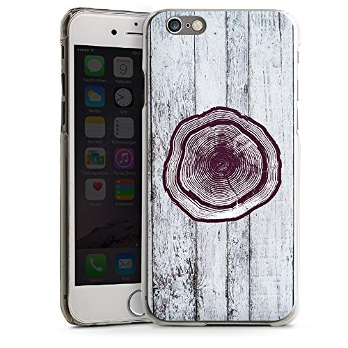 Apple iPhone 4 Housse Étui Silicone Coque Protection Tronc Look bois Tronc d'arbre CasDur transparent