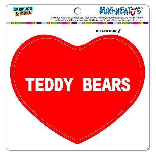 Mag-Neato 's-TM) Auto Kühlschrank Vinyl Magnet I love Herz Sport Hobby t-v, Teddy Bears (Tv Teddy)