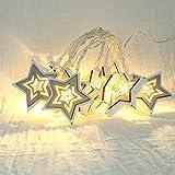 LED-Licht,TwoCC Lichter Schnur Fenster Vorhang Lampe Haus Partei Dekor Schlagen mit 10 LED Korne