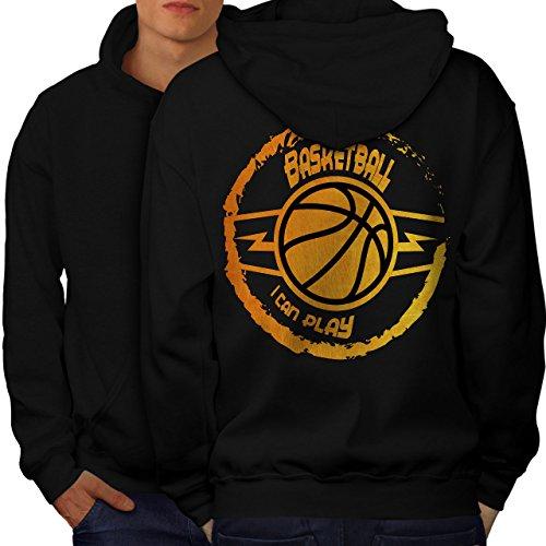 Basketball Spiel Sport Männer 3XL Kapuzenpullover Zurück   Wellcoda